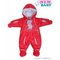 NEW BABY Zimní kombinéza Myška červená