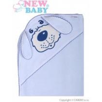 NEW BABY Dětská froté osuška 80x80 pejsek modrá