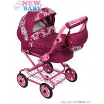NEW BABY Hluboký kočárek pro panenky fuchsiový