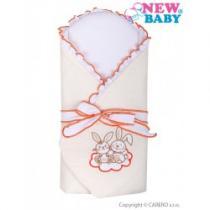 NEW BABY Zavinovačka s výztuží Bunnies béžová