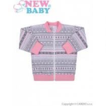 NEW BABY Kojenecká bavlněná bundička Etnik růžovo-šedá