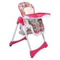 BABY MIX Jídelní židlička růžová