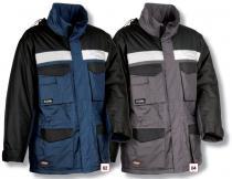COFRA Zimní pracovní bunda GUST modrá/černá