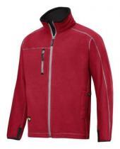 Snickers Workwear Bunda A.I.S. fleecová 8012 Červená
