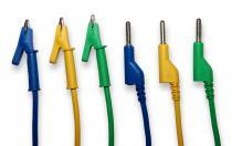 Kabely k laboratorním zdrojům 50cm modrý