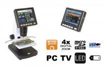 Digitální mikroskop s LCD, rozlišením 5M, SD kartou, USB a TV výstupem