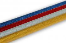 Dekorativní třpytivé tyčinky do tavné pistole modrá 1ks