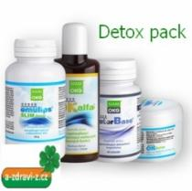 OKG Detox pack OK Alfa+ 115ml, Factor Base 60 tb., Emulips Slim Drink 60g