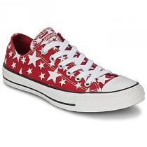 Converse Chuck Taylor All Star MULTI STAR PRINT OX červená - dámské