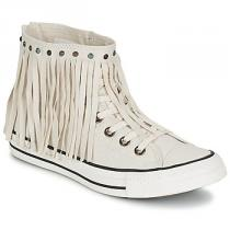 Converse CHUCK TAYLOR ALL STAR FRINGE ACID WASH DENIM HI - dámské