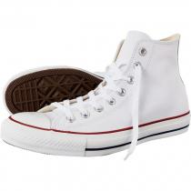Converse Chuck Taylor All Star Hi White Leather - dámské