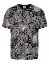 Burton Menswear London Černé triko se vzorem