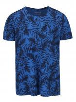 Blend Černo-modré vzorované triko s krátkým rukávem Blend