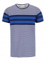Tailored & Originals Modré pruhované triko Rickinghall
