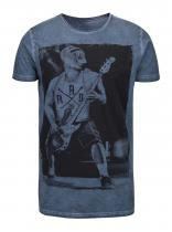 Shine Original Modré tričko s potiskem Original