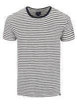 Dstrezzed Modro-krémové pruhované triko