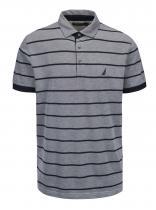 Nautica Modro-šedé pruhované polo triko