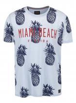 !Solid Světle modré triko s potiskem Balin