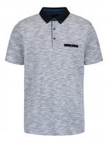 Burton Menswear London Světle modré žíhané polo triko