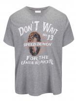 Shine Original Šedé tričko s potiskem Original Don't wait