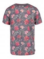 Bellfield Šedé triko s květinovým potiskem Belgate