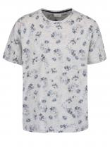 Burton Menswear London Šedé triko s květy