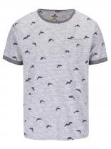 Bellfield Šedé triko s potiskem delfínů Stonewell