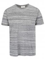 Tailored & Originals Šedé žíhané triko Ringwood
