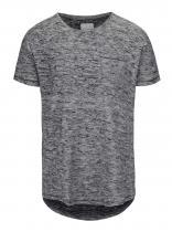 Shine Original Šedo-černé žíhané tričko s náprsní kapsou Original