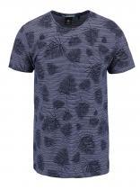 Broadway Tmavě modré vzorované triko Ewen