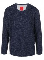 s.Oliver Tmavě modré žíhané triko s dlouhými rukávy