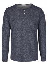 Jack & Jones Tmavě modré žíhané triko s dlouhým rukávem Mason