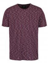 Burton Menswear London Vínové žíhané triko