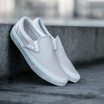 Vans Classic Slip On (Leather) White Spring Powder/ Blanc - dámské