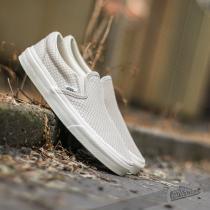 Vans Classic Slip On + Snake Leather Antigue White - dámské