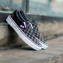 Vans Classic Slip On Black/ Pewter Checkerboard - dámské