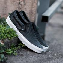 Vans Classic Slip On Embossed Weave Black/True White - dámské