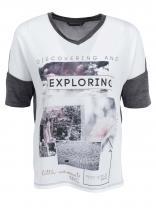 ONLY Béžovo-šedé tričko s potiskem Cooler