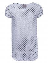 Vero Moda Bílé tričko s puntíky Boca