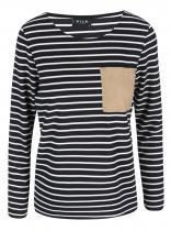 VILA Černo-bílé pruhované tričko Recalls