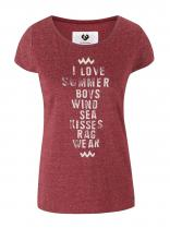 Ragwear Červené žíhané tričko Mint
