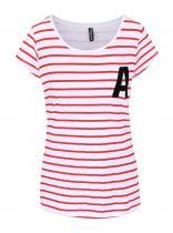 Madonna Červeno-bílé pruhované tričko