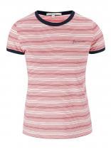 Pepe Jeans Červeno-bílé tričko Donna