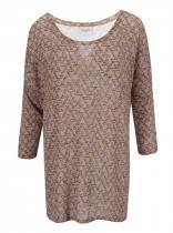 Vero Moda Hnědý svetrový top se vzorem Jennie