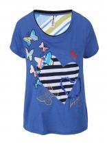 Desigual Modré tričko Love