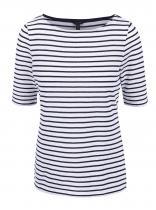 Nautica Modro-bílé pruhované tričko se vzorem