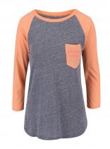 Burton Oranžovo-šedé tričko Trusted Raglan