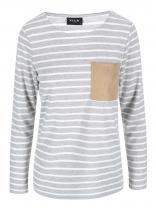 VILA Šedé pruhované tričko Recalls