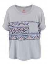 Roxy Šedé tričko s aztéckým potiskem Boxy