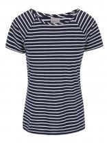 Vero Moda Tmavě modré pruhované tričko Ester